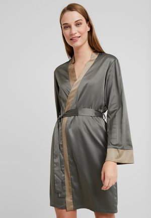 JUNGLE KIMONO - Dressing gown - dusty olive/khaki
