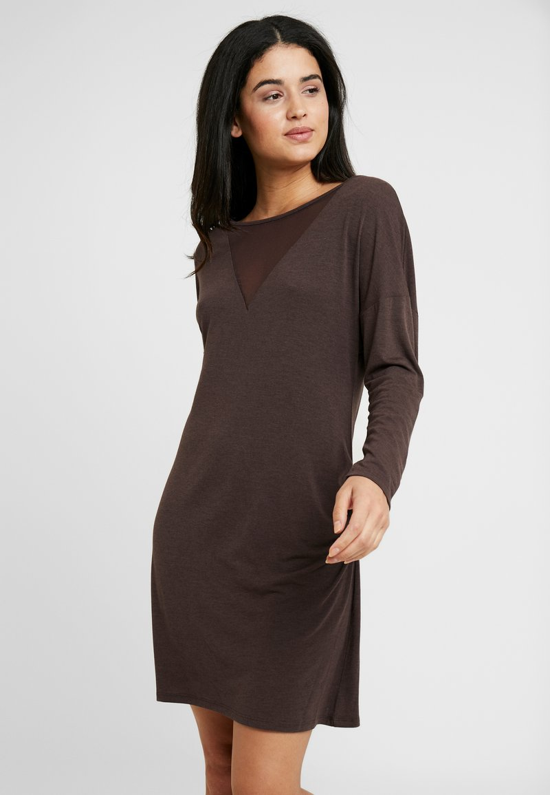 LingaDore - INDY DRESS  - Noční košile - java brown