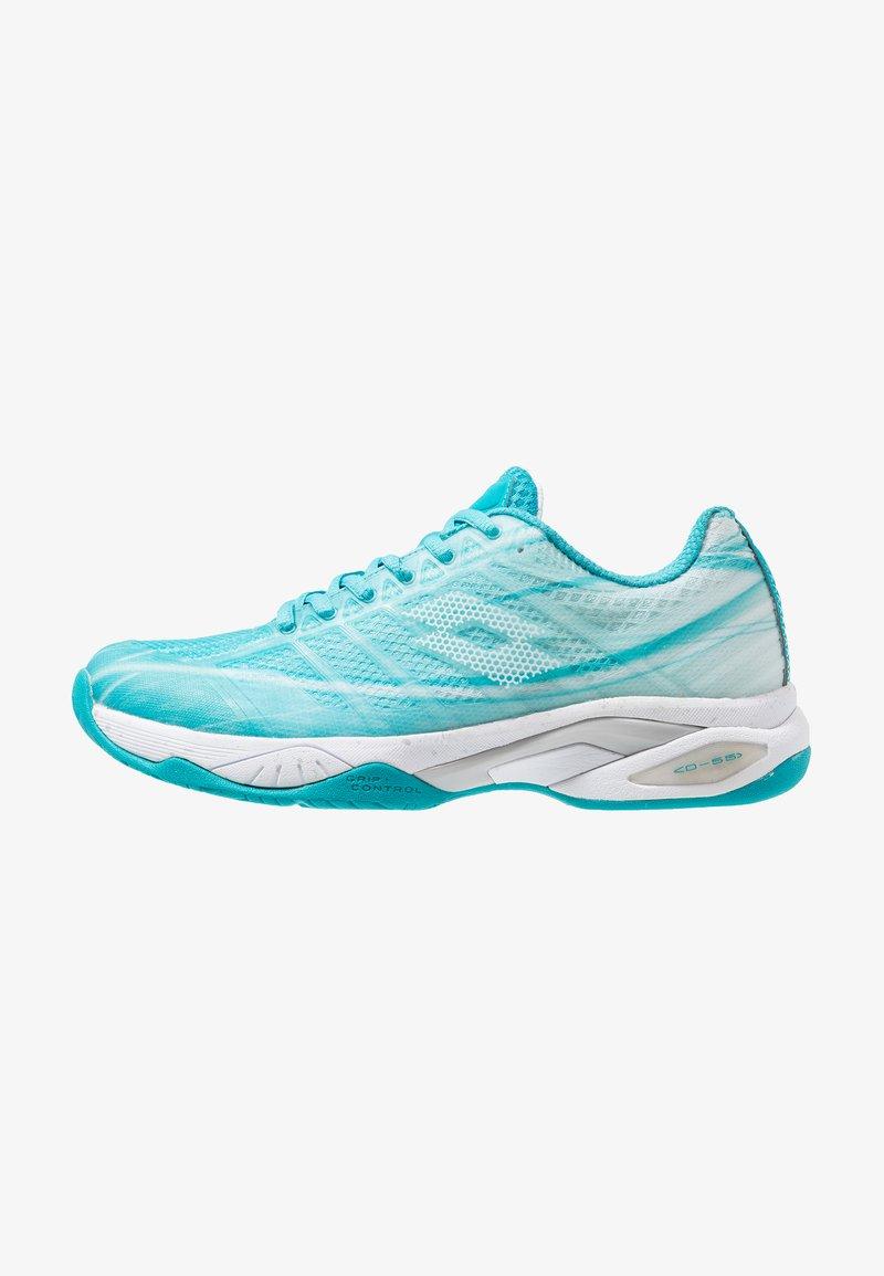 Lotto - MIRAGE 300 SPD - Multicourt tennis shoes - blue bird/all white/silver metal