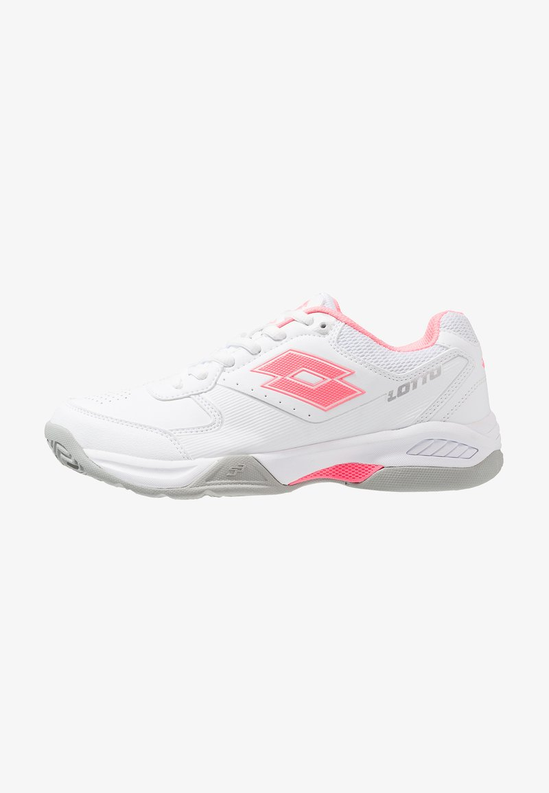 Lotto - SPACE 600 ALR - Clay court tennis shoes - all white/vicky pink/silver metal