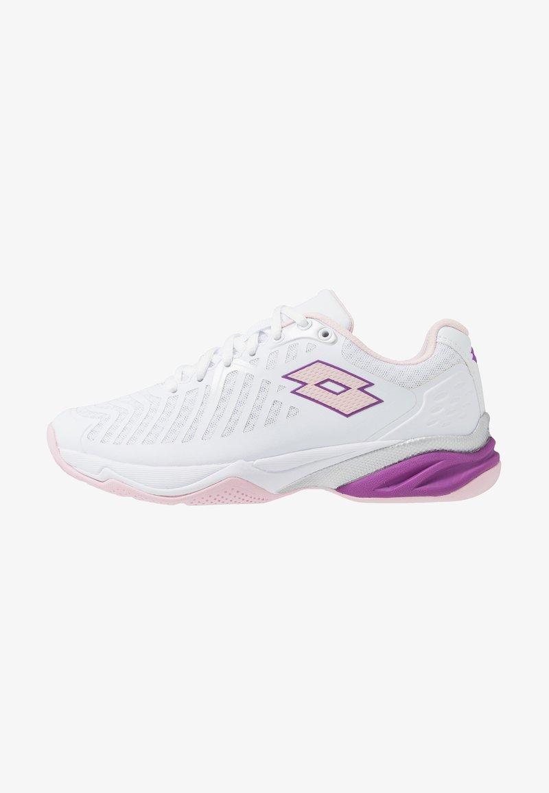 Lotto - SPACE 400 ALR - Scarpe da tennis per tutte le superfici - all white/pink cherry/purple willow