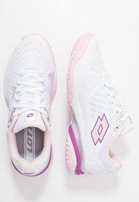 Lotto - SPACE 400 ALR - Scarpe da tennis per tutte le superfici - all white/pink cherry/purple willow - 1