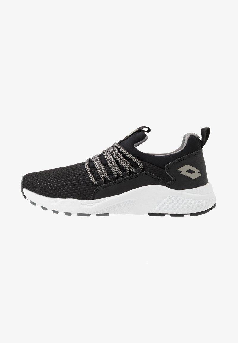 Lotto - BREEZE RISE - Sports shoes - all black/gravity titan