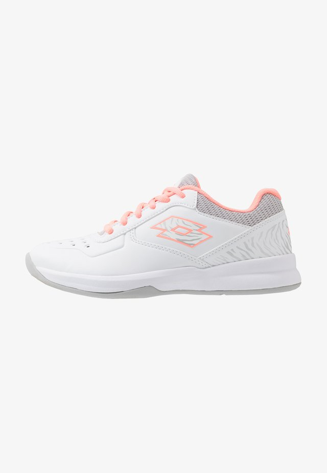 SPACE 600 II - All court tennisskor - all white/sweet rose/silver metal