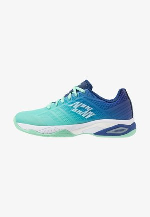 MIRAGE 300 II SPD - Clay court tennis shoes - green cabbage/all white/sodalite blue