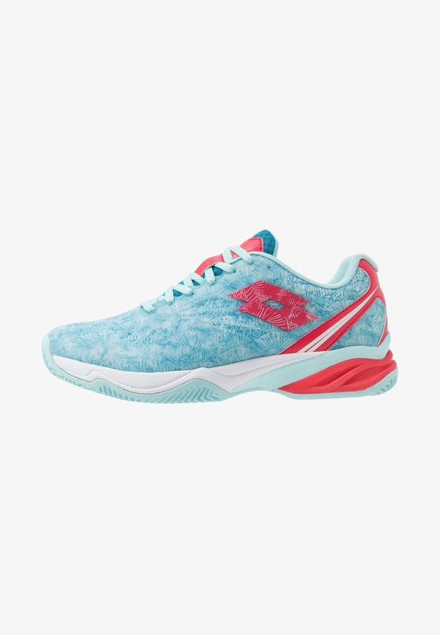 SUPERRAPIDA 200 PRT - Tenisové boty na antuku - clearwater/calypso pink/mosaic blue