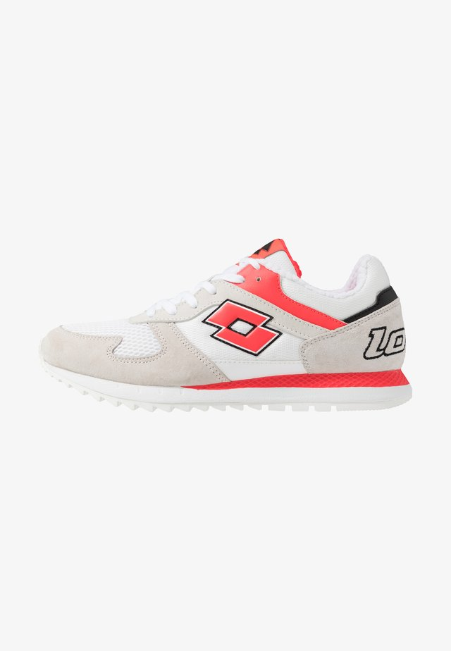 RUNNER PLUS '95 - Neutral running shoes - all white/red fluo
