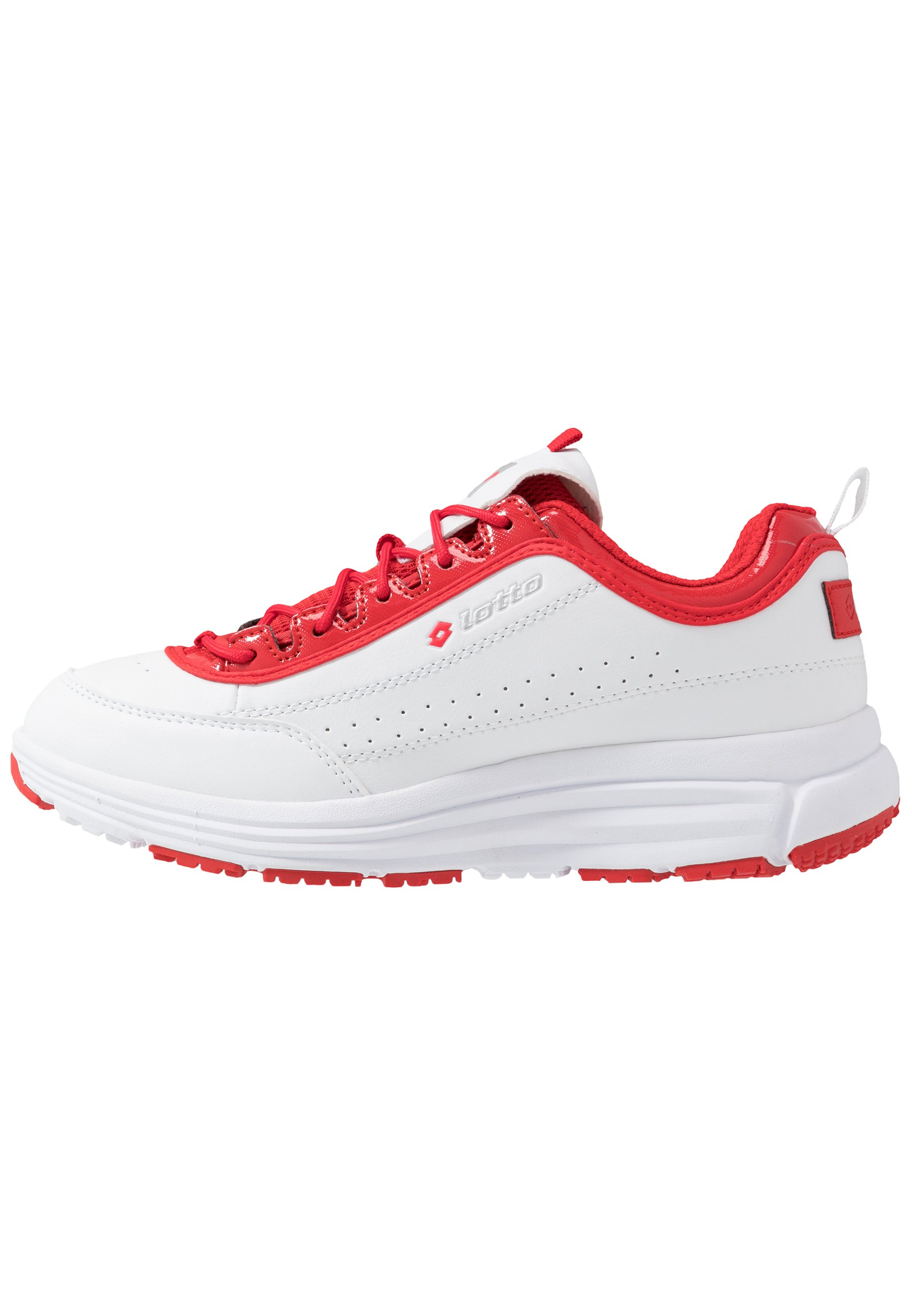 Lotto SMART IV AMF BLOCK Treningssko all whiteflame red