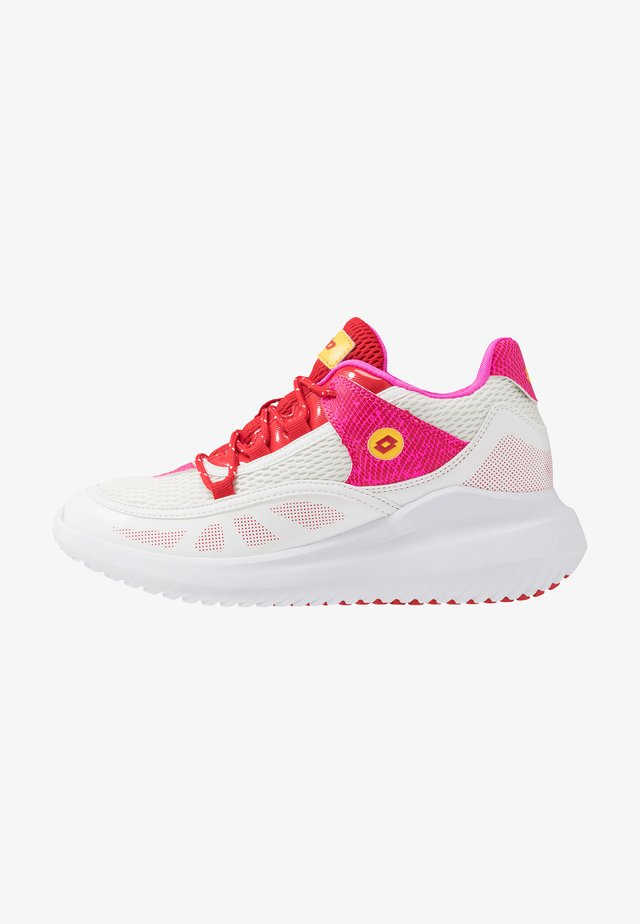 SMART IV AMF BLOCK - Sports shoes - all white/flame red/fuchsia fluo