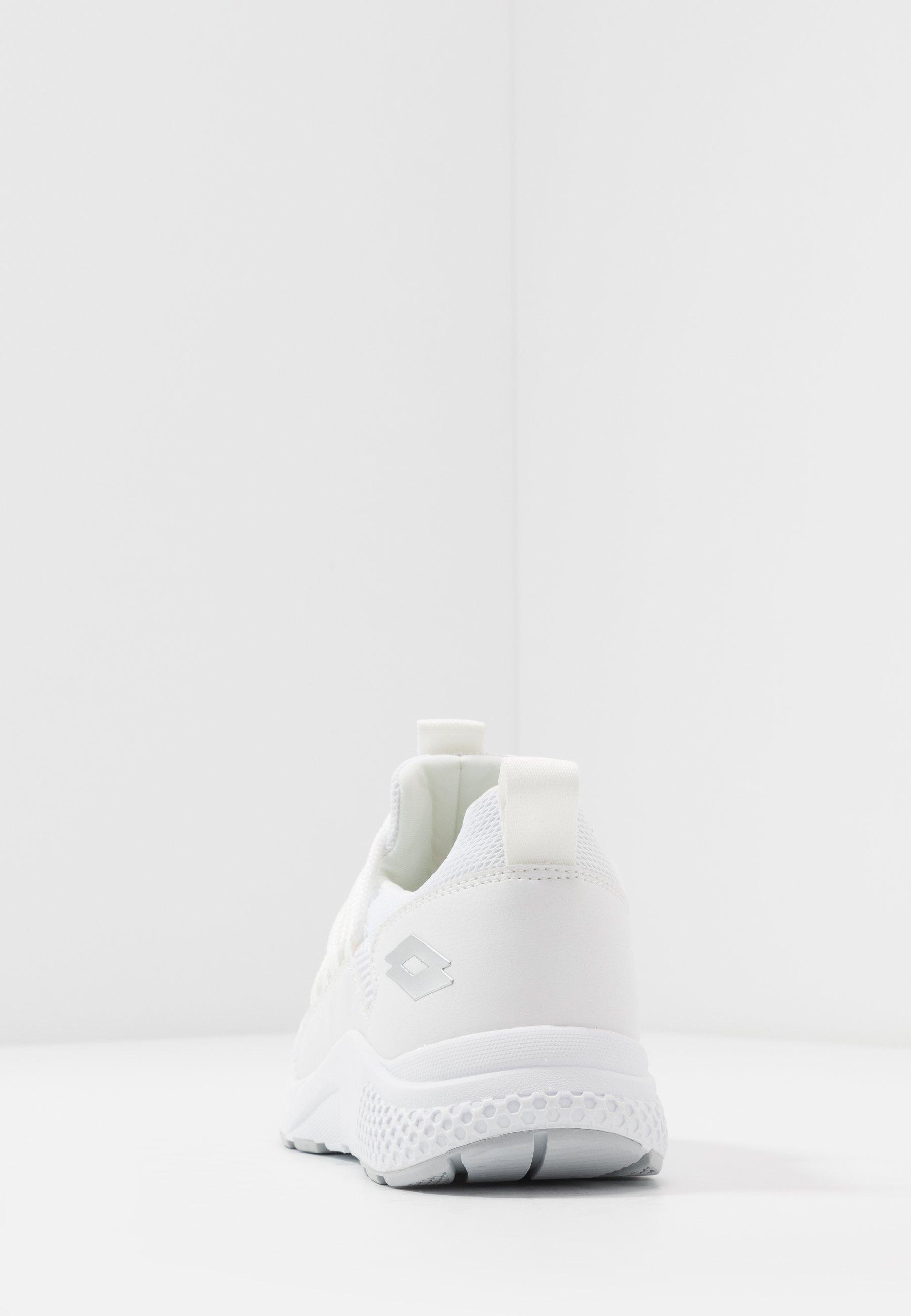 Lotto Breeze Rise Ii - Chaussures D'entraînement Et De Fitness All White/silver Metal
