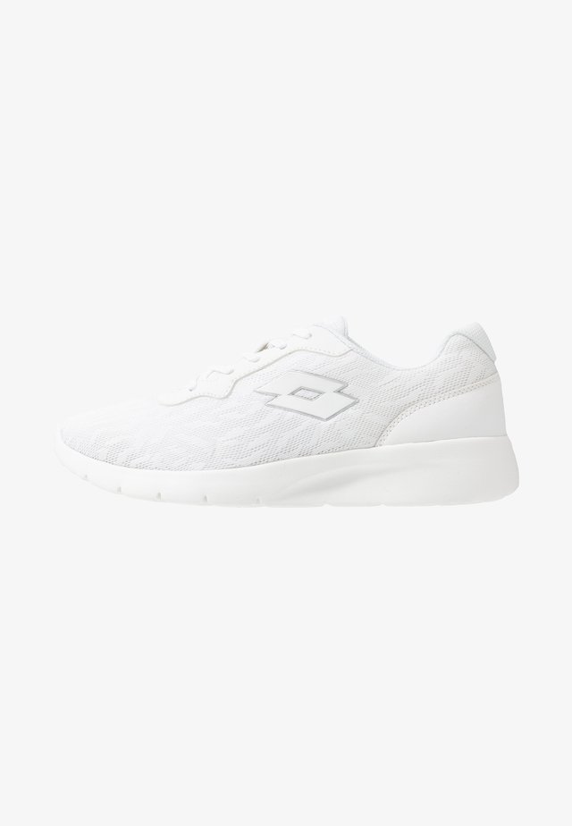 MEGALIGHT V - Sports shoes - all white/silver metal