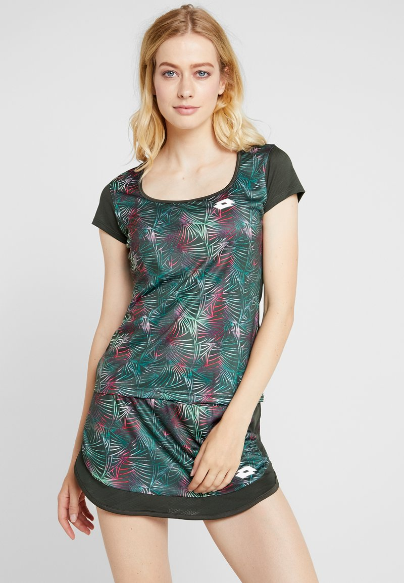 Lotto - SUPERRAPIDA TEE  - T-Shirt print - green resin