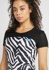 Lotto - ZEBRE TEE - Print T-shirt - bright white/all black