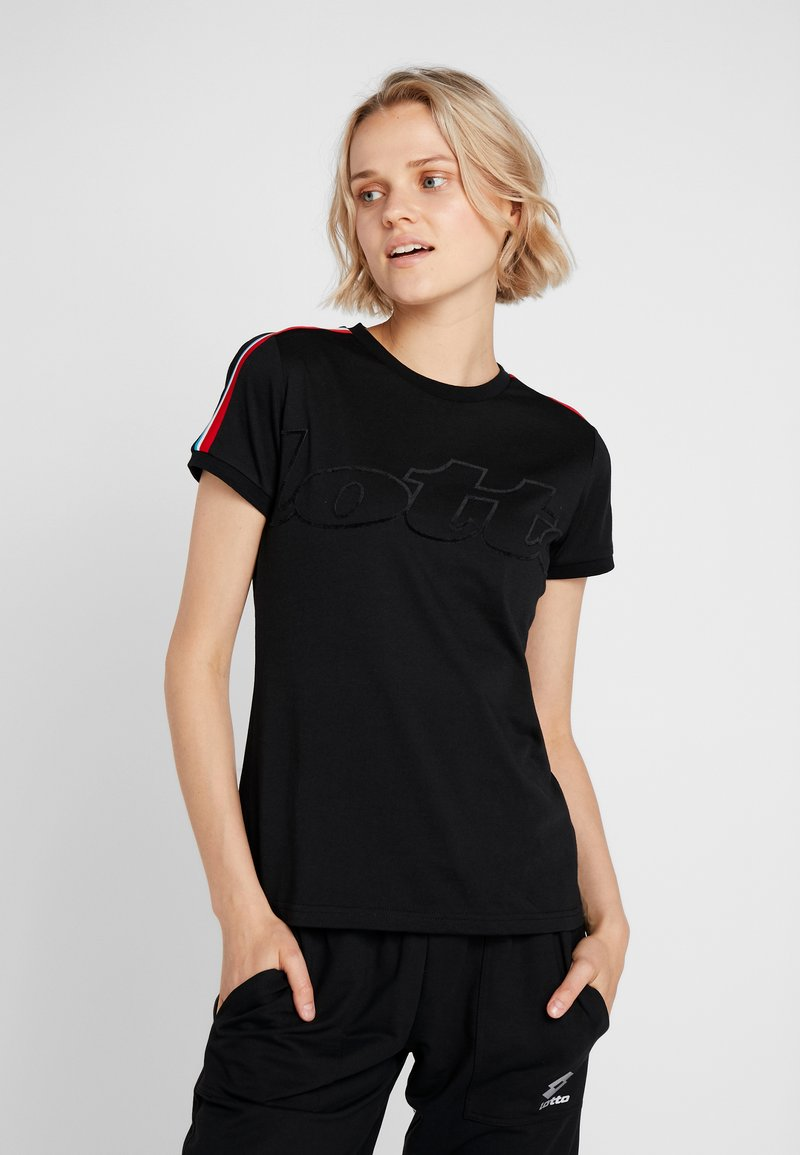 Lotto - ATHLETICA TEE  - T-Shirt print - all black
