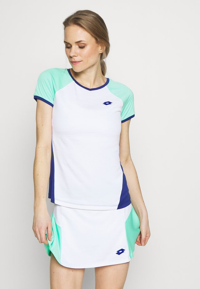TOP TEN TEE - T-shirt z nadrukiem - bright white/sodalite blue