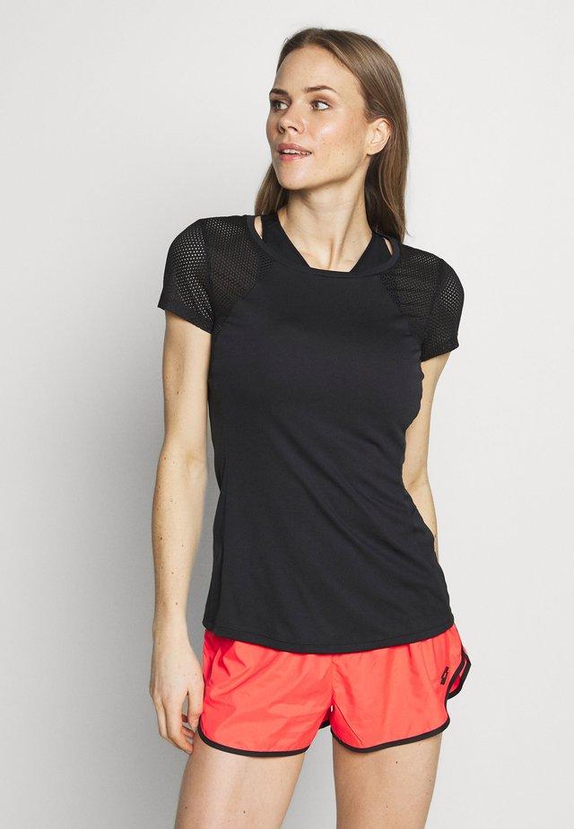 VABENE TEE - T-shirt med print - all black