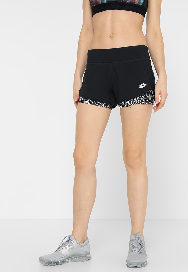 Lotto - X-RUN SHORT - Short de sport - all black