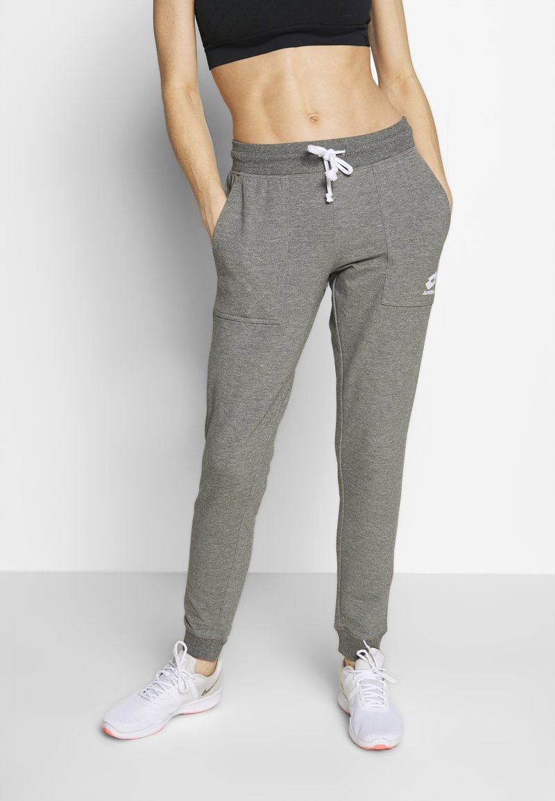 Lotto - SMART PANTS - Joggebukse - gryphon gray/brilliant white