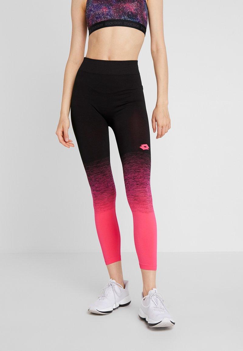 Lotto - VABENE PLUS LEGGING  - Leggings - calypso pink/all black