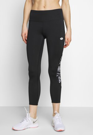 VABENE CAPRI - Legging - all black/bright white