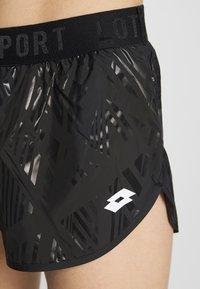Lotto - VABENE SHORT - Sports shorts - all black - 4
