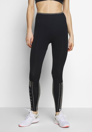 VABENE PLUS LEGGING - Medias - all black/iron gate