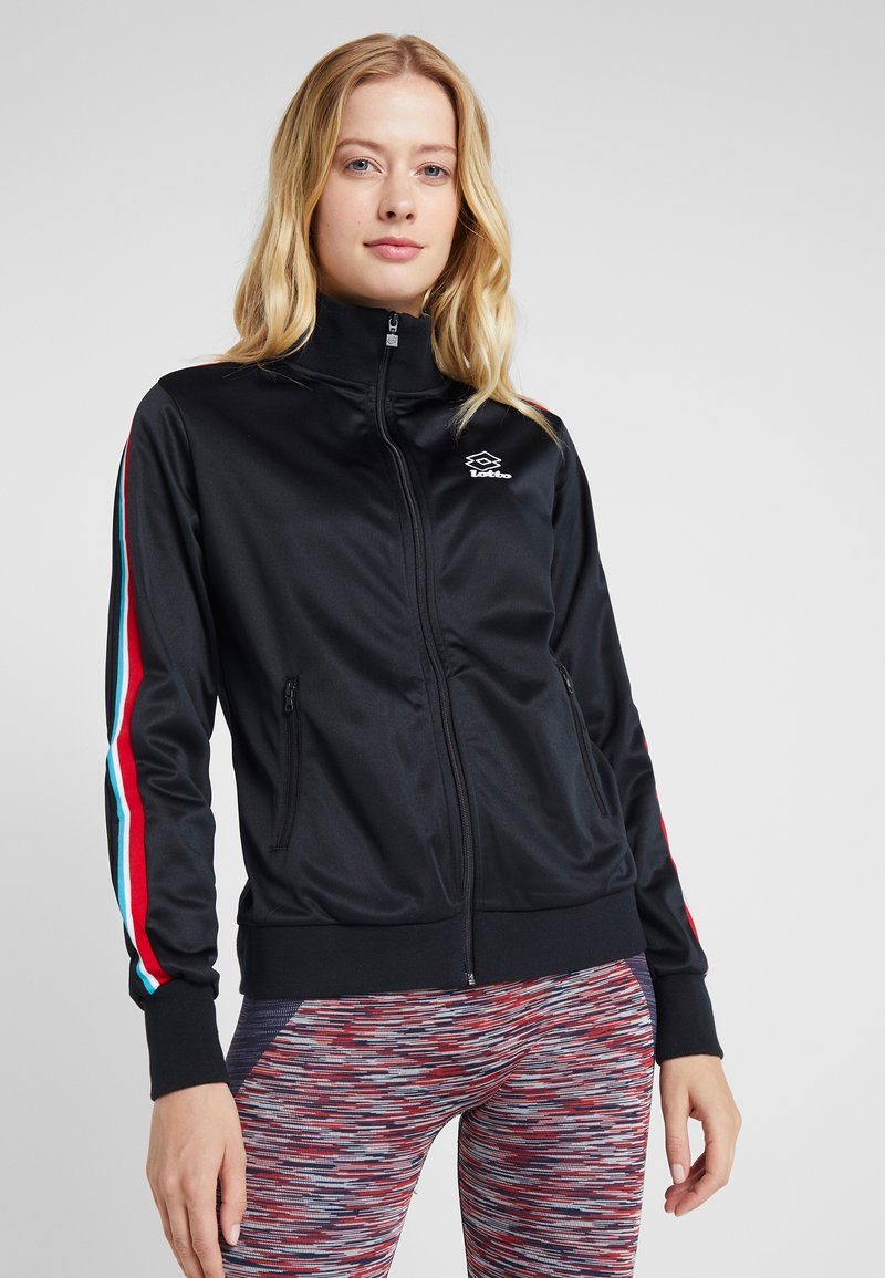 Lotto - ATHLETICA - Zip-up hoodie - all black