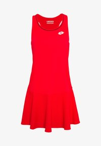 Lotto - SQUADRA DRESS  - Jerseykjole - red fluo