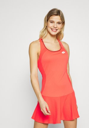 SQUADRA DRESS  - Jersey dress - red fluo