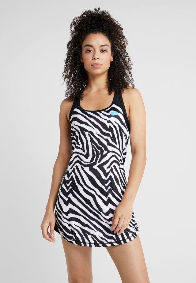 ZEBRE DRESS - Sportkleid - bright white/all black