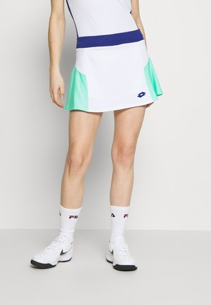 TOP TEN SKIRT - Sports skirt - bright white/green cabbage