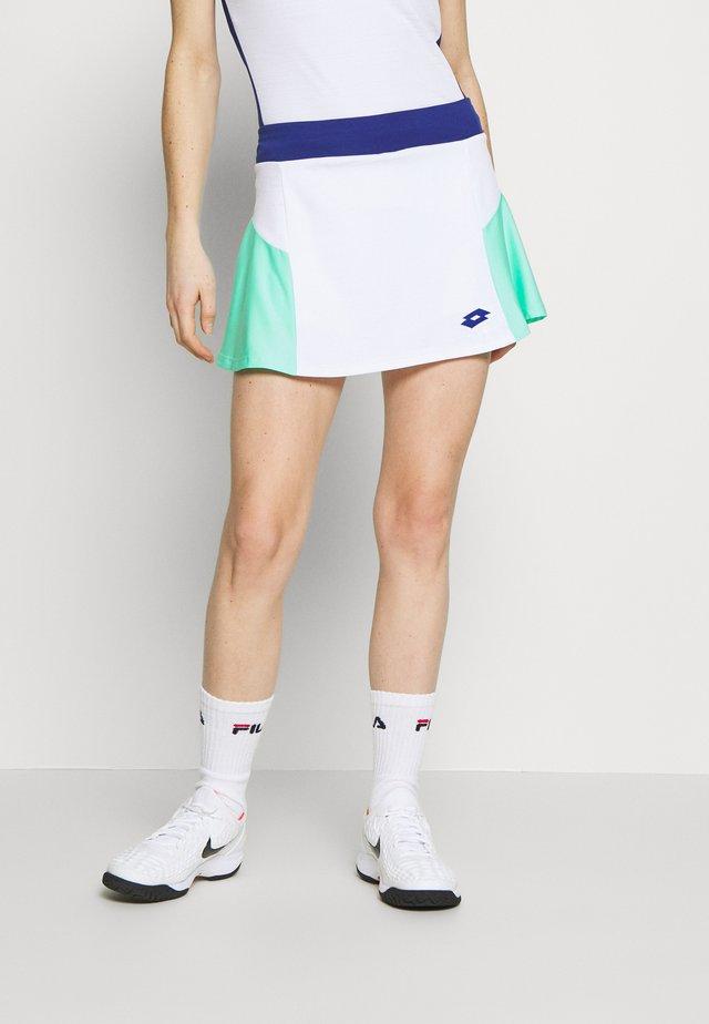 TOP TEN SKIRT - Sportovní sukně - bright white/green cabbage