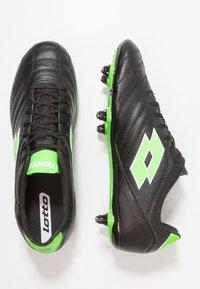 Lotto - STADIO 300 II SG6 - Chaussures de foot à lamelles - black - 1