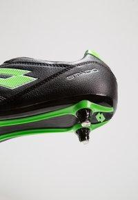 Lotto - STADIO 300 II SG6 - Chaussures de foot à lamelles - black - 5