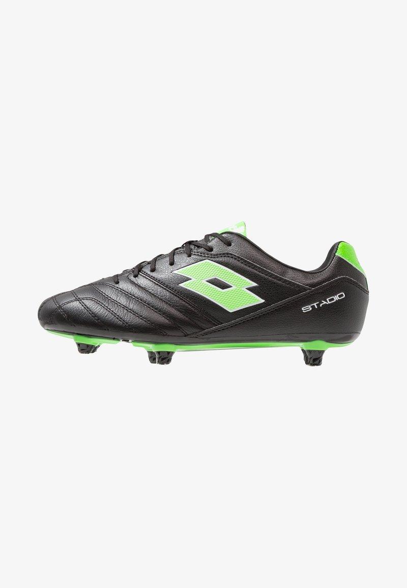 Lotto - STADIO 300 II SG6 - Chaussures de foot à lamelles - black