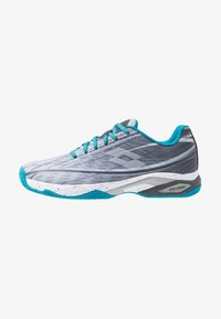 Lotto - MIRAGE 300 CLY - Chaussures de tennis pour terre-battueerre battue - silver metal/all white/mosaic blue - 0