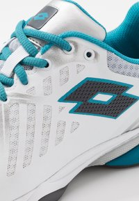 Lotto - SPACE 400 ALR - All court tennisskor - all white/asphalt/mosaic blue - 6