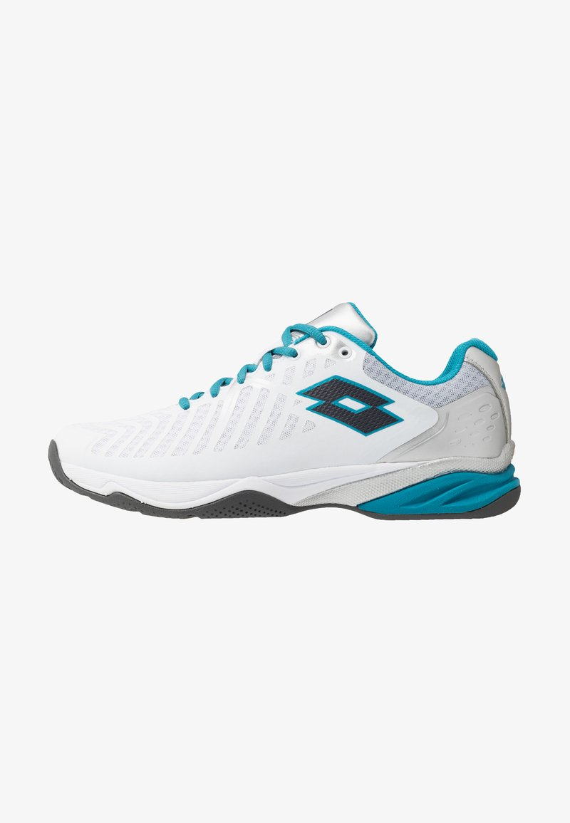 Lotto - SPACE 400 ALR - All court tennisskor - all white/asphalt/mosaic blue