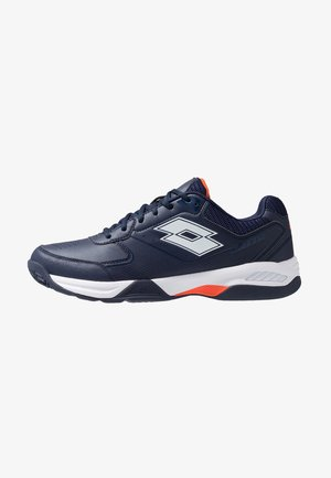 SPACE 600 - Tennisschoenen voor kleibanen - navy blue/all white/red orange
