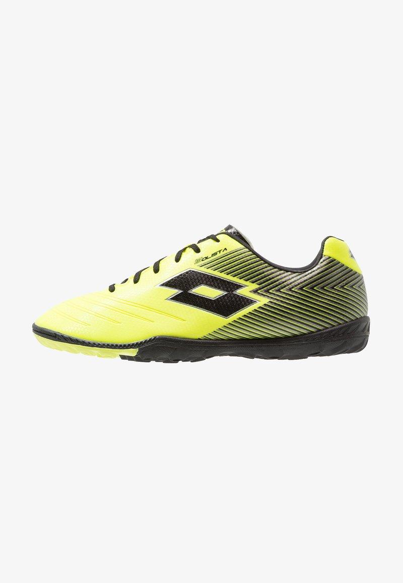 Lotto - SOLISTA 700 II TF - Scarpe da calcetto con tacchetti - safety yellow/all black/silver metal