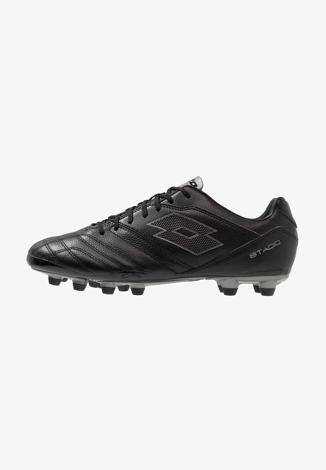 STADIO 300 II FG - Moulded stud football boots - all black/gravity titan