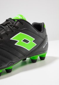 Lotto - STADIO 300 II FG - Fußballschuh Nocken - all black/spring green - 5