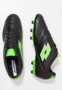 Lotto - STADIO 300 II FG - Fußballschuh Nocken - all black/spring green - 1