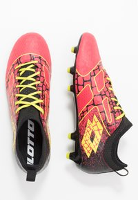 Lotto - MAESTRO 700 II FG - Chaussures de foot à crampons - calypso pink/acacia green/all black - 1