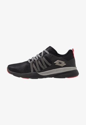DINAMICA 100 - Chaussures de running neutres - all black/gravity titan/hug red