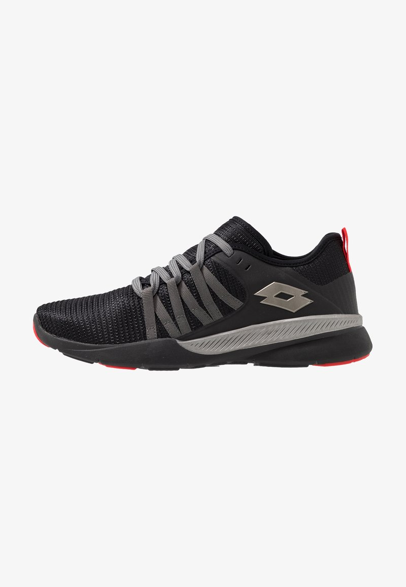 Lotto - DINAMICA 100 - Chaussures de running neutres - all black/gravity titan/hug red
