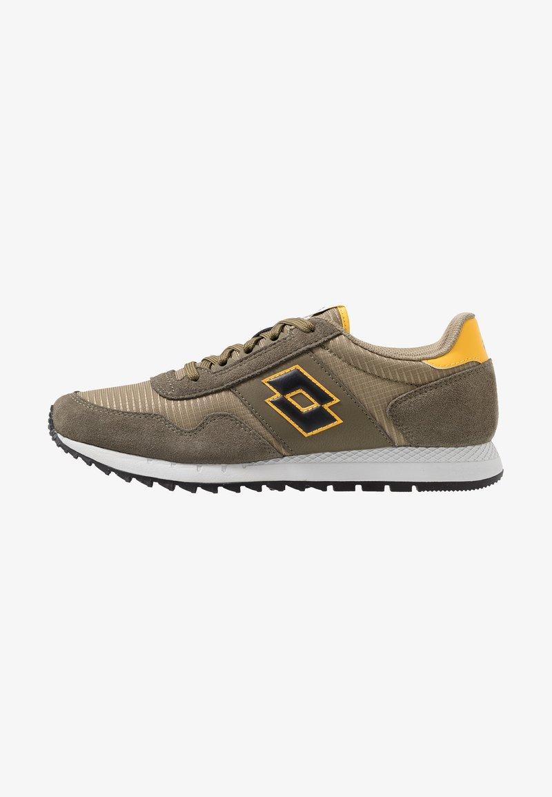 Lotto - RUNNER PLUS - Chaussures de running neutres - olive gray/all black/dark olive