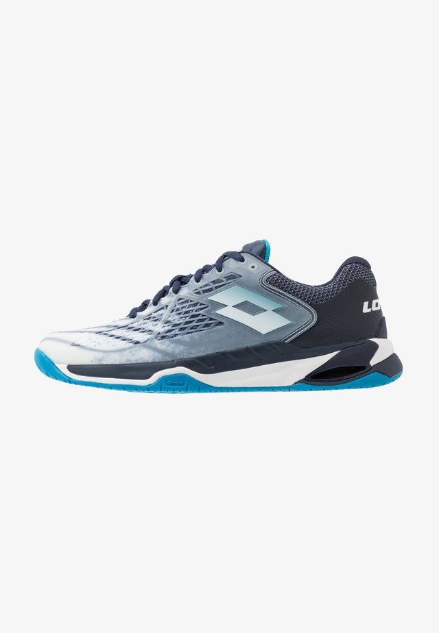 MIRAGE 100 SPD - Multicourt tennis shoes - all white/diva blue/navy blue