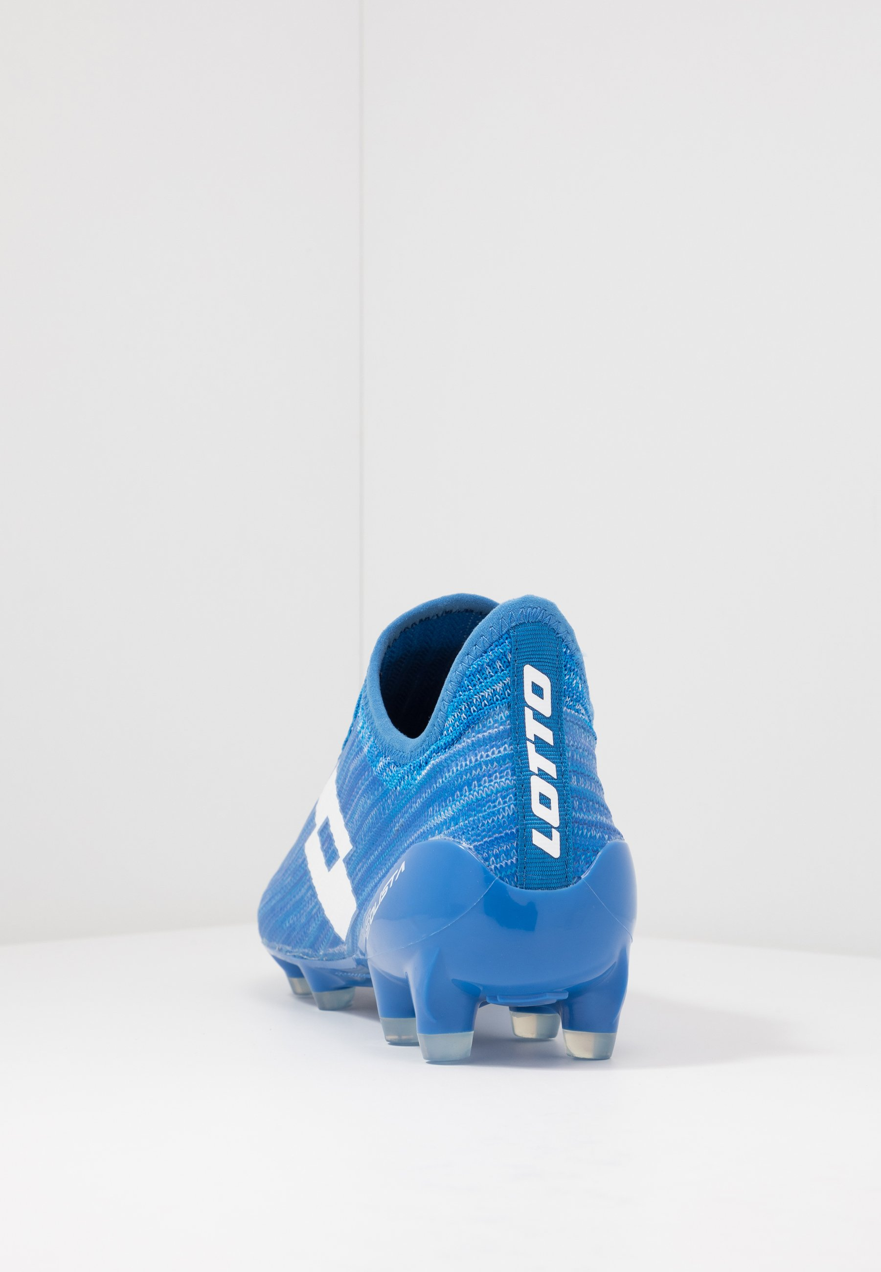 Lotto SOLISTA 200 III FG - Chaussures de foot à crampons - diva blue/all white/skydiver blue