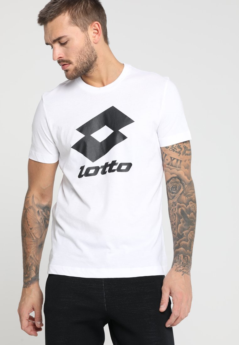 Lotto - SMART TEE - T-shirts print - bright white/all black